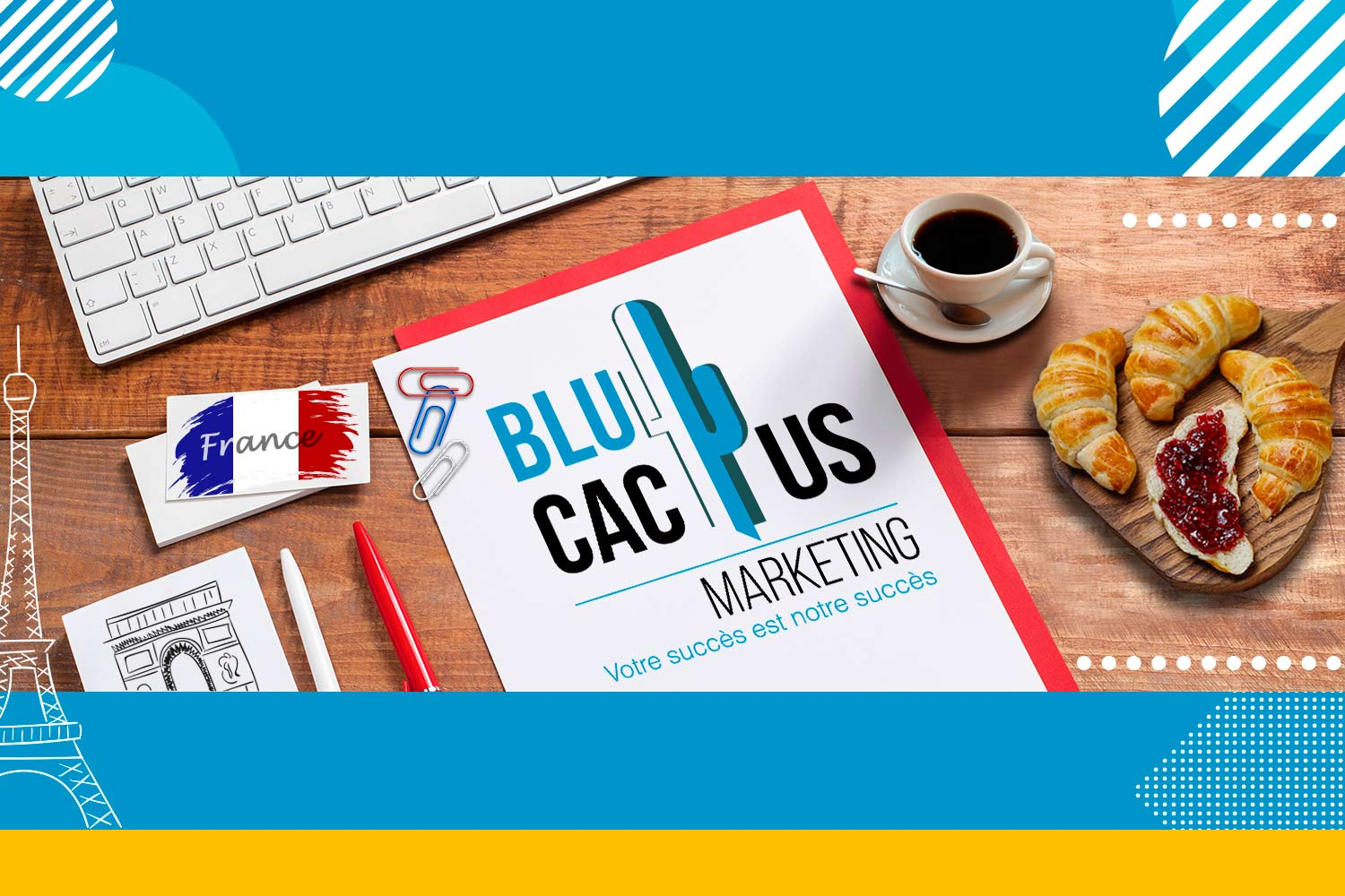 Fond Agence de marketing BluCactus